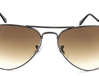 Ray-Ban Aviator Sunglasses, Gunmetal/Brown Gradient, 58 mm