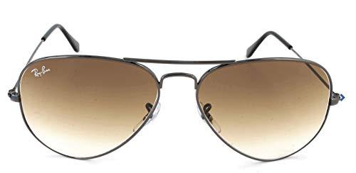 Ray-Ban Aviator Sunglasses, Gunmetal/Brown Gradient, 58 mm