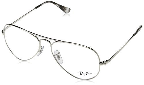 Ray-Ban Aviator Metal Eyeglass Frames, Silver/Demo Lens