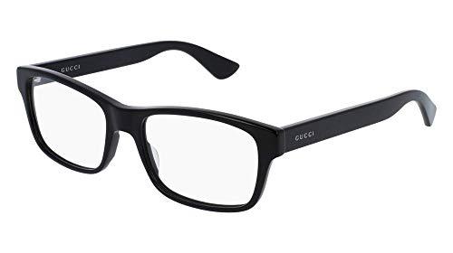 Gucci GG Black Plastic Rectangle Eyeglasses 55mm