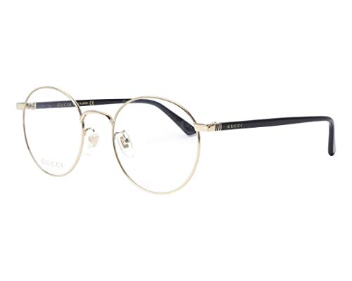 Gucci Eyeglasses 001 Gold/Black 52 mm