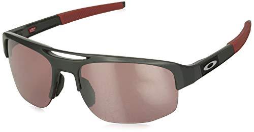 Oakley Men's Mercenary Rectangular Sunglasses, Matte Carbon/Prizm