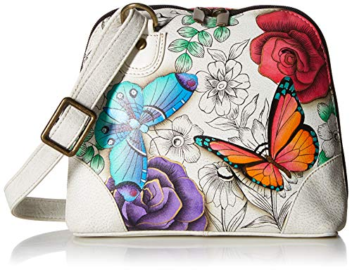 Anna by Anuschka Organizer Handbag | Genuine Leather | Floral Paradise
