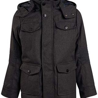 Urban Republic Boys Wool Officer Jacket with Hood
