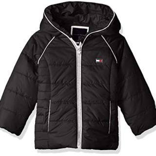 Tommy Hilfiger Girls' Toddler Quilted Puffer Jacket, Black