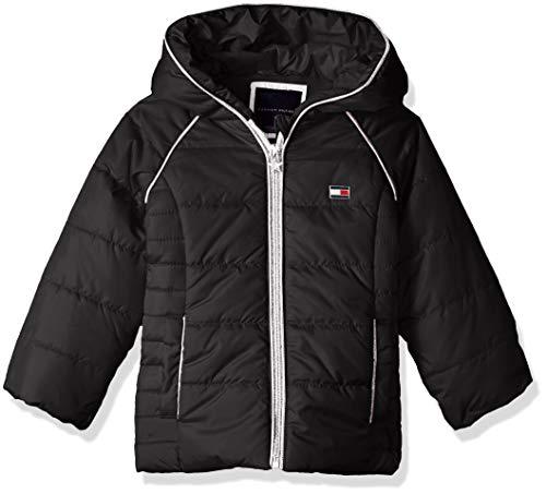 Tommy Hilfiger Girls' Toddler Quilted Puffer Jacket, Black