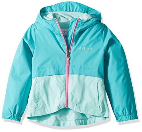 Columbia Girls' Big Rain-Zilla Jacket, Geyser/Gulf Stream