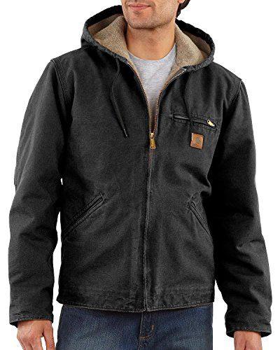 Carhartt Men's Sherpa Lined Sandstone Sierra Jacket