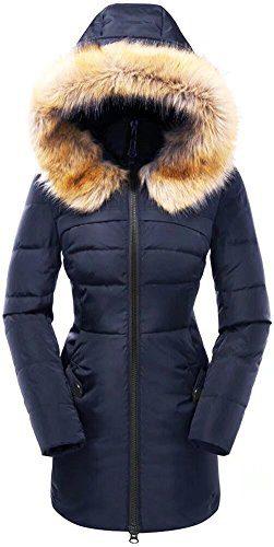 Beinia Valuker Women's Down Coat Hooded 90D Parka Puffer Jacket