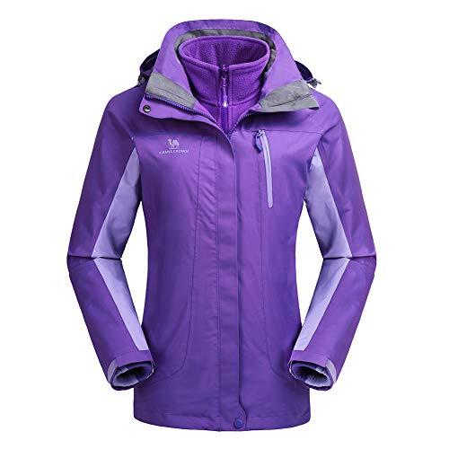 CAMEL CROWN Womens Winter Jacket 3-in-1 Winter Coats Ski Jacket