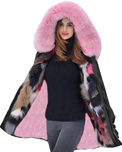 Roiii Women Military Winter Casual Outdoor Coat Hoodie Jacket