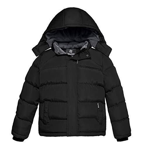 Wantdo Boy's Thick Cotton Padded Coat Hooded Fleece Jacket