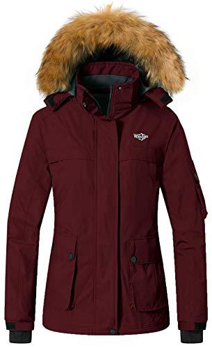 Wantdo Women's Ski Jacket Waterproof Windproof Windbreaker Hoodie