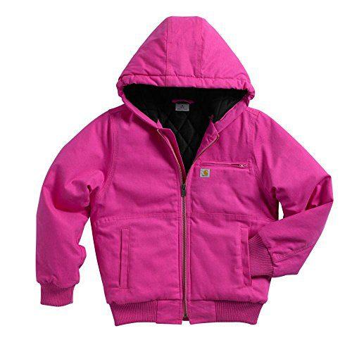 Carhartt Big Girls' Wildwood Jacket Quilt, Raspberry Rose