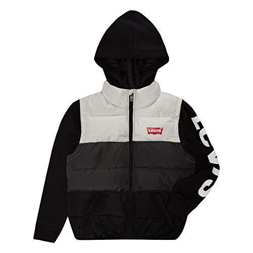 Levi's Boys' Big 2fer Puffer Jacket, Grey Violet