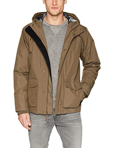 RVCA Men's Puffer Parka Jacket, Wood