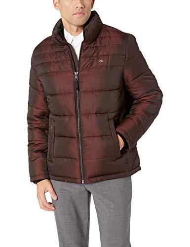 Calvin Klein Men's Classic Puffer Jacket, merlot novelty