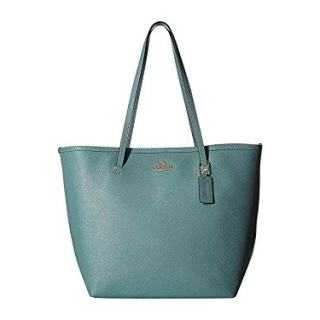 COACH Women's Crossgrain Large Street Tote Aquamarine One Size