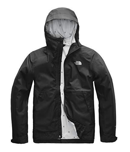 The North Face Men's Millerton Jacket, TNF Black/High Rise Grey Campfire Print