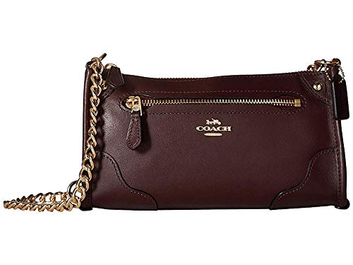 COACH Women's Grain Leather Mickie Crossbody Warm Oxblood One Size