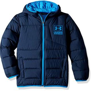 Under Armour Boys' Big Swarmdown Hooded Jacket, Academy