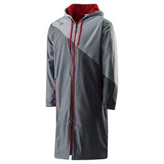 Speedo Unisex Color Block Parka Jacket, Medium , Red