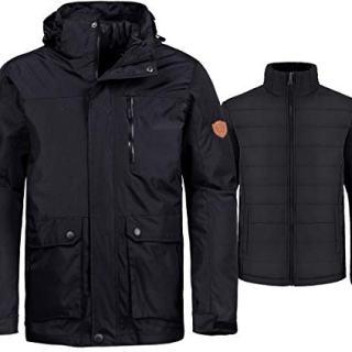 Wantdo Men's 3-in-1 Ski Jacket Warm Winter Coat Removable Puffer