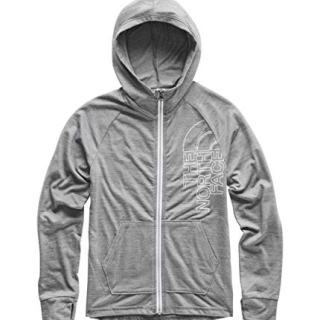 The North Face Girls' Tri-Blend Full Zip, TNF Medium Grey Heather