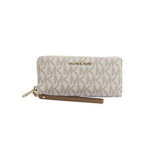MICHAEL Michael Kors Women's Vanilla Monogram Acorn Leather