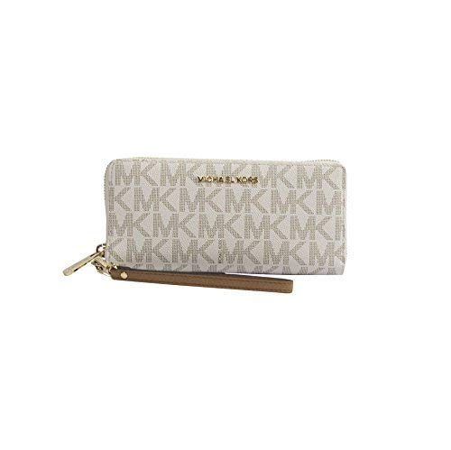 MICHAEL Michael Kors Women's Vanilla Monogram Acorn Leather
