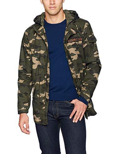 Levi's Men's Washed Cotton Camo Fishtail Parka Jacket