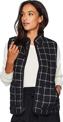 Mod-O-Doc Women's Windowpane Flannel Plaid Quilted Vest