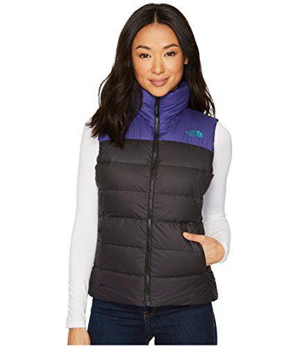 The North Face Women's Nuptse Vest, Black/Bright Navy