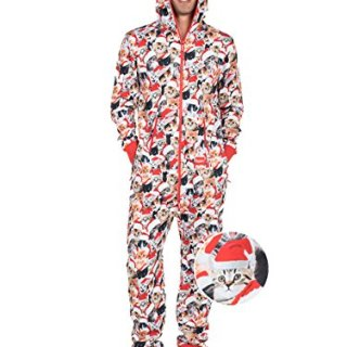 Meowy Catmus Ugly Christmas Sweater Party Jumpsuit