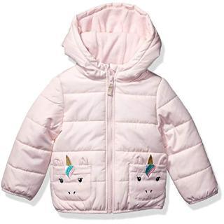 Carter's Girls' Toddler Fleece Lined Critter Puffer Jacket Coat