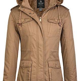 Wantdo Women's Warm Sherpa Lined Windproof Jacket
