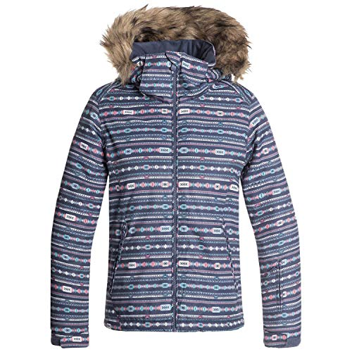 Roxy Little American Pie Girl Snow Jacket, Crown Blue