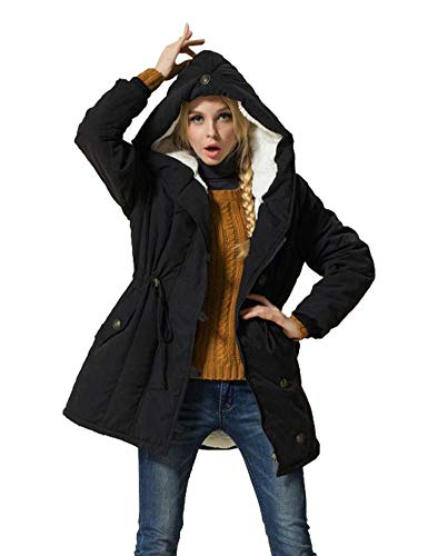 Eleter Women's Winter Warm Coat Hoodie Parkas Overcoat Fleece