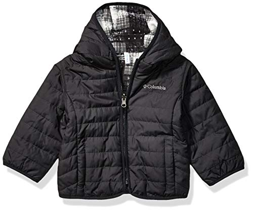 Columbia Kids' Toddler Double Trouble Jacket, Black/Black Plaid