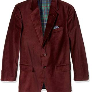 U.S. Polo Assn. Men's Portly Velvet Sport Coat, Burgundy