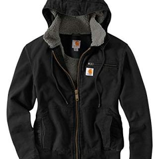 Carhartt Women's Weathered Duck Wildwood Jacket, Black, X-Large