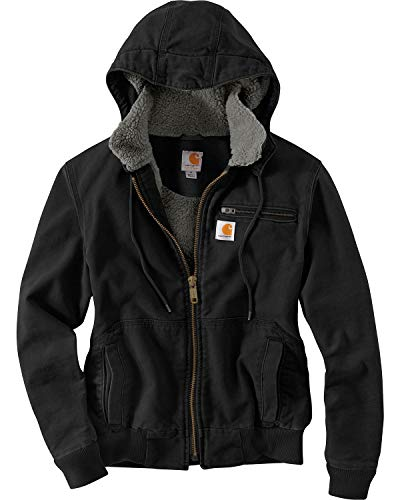 Carhartt Women's Weathered Duck Wildwood Jacket, Black, X-Large