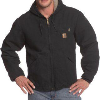 Carhartt Men's Big & Tall Sherpa Lined Sandstone Sierra Jacket