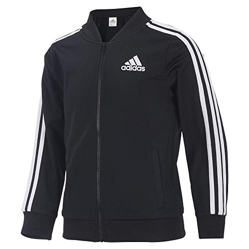 Adidas Girls' Big Tricot Bomber Track Jacket