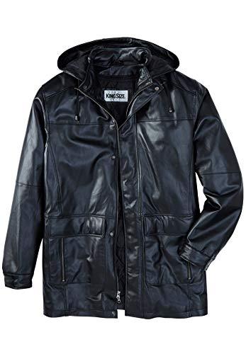 KingSize Men's Big & Tall Hooded Leather Parka