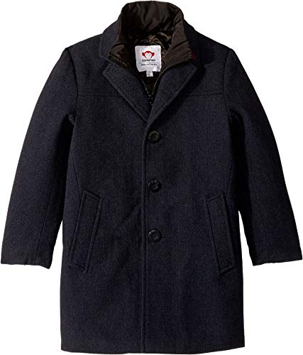 Appaman Kids Baby Boy's Double Lined Zip and Button Up City Overcoat