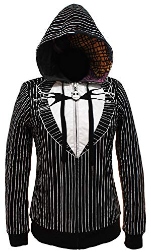 The Nightmare Before Christmas Juniors Jack & Sally Reversible Hoodie