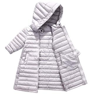 Girls Winter Warm Overcoat Boys Padded Hooded Windproof Outwear Parka