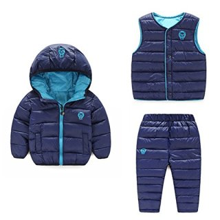 LOSORN ZPY Baby Boy Girl Winter Puffer Snowsuit Down Hooded Jacket