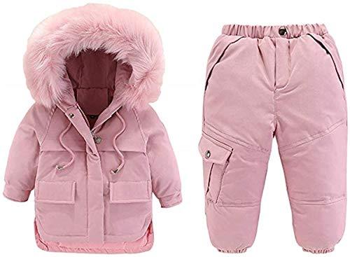 Lemohome Baby Kid Boy Girl Winter Waterproof Hooded Fur Down Parka